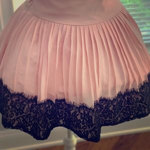 Other - Pleated skirt with lace details.